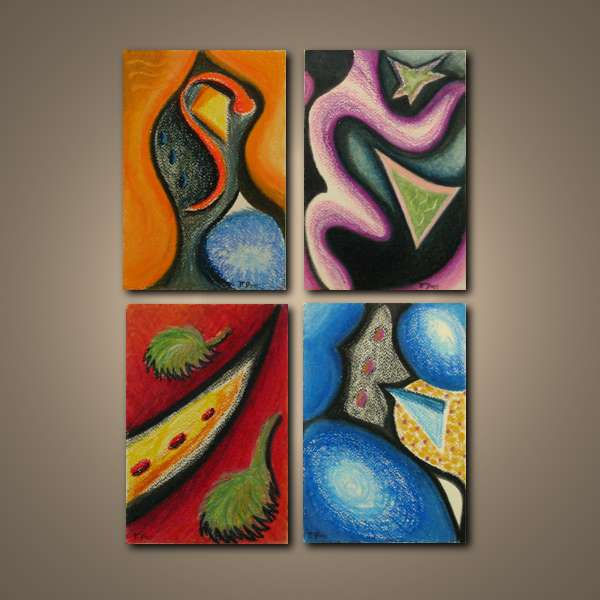 Series of Four 6 x 9  Oil Pastel on 140lb Cartiera Magnani Watercolor Paper